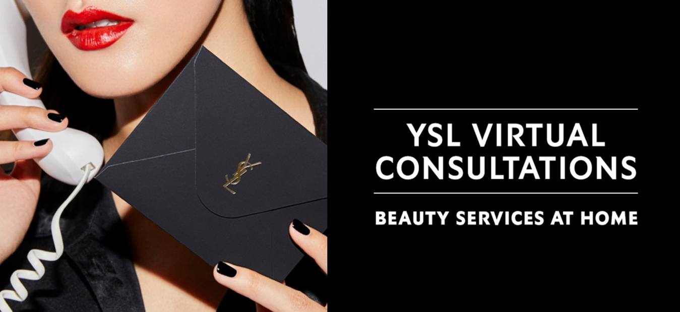 YSL virtual consultations banner